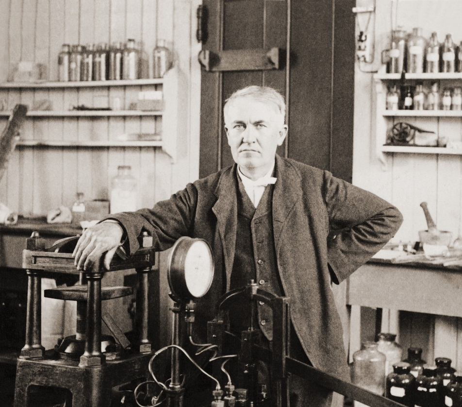 Thomas Edison, the partially deaf inventor of the phonograph ... for Thomas Edison Telegraph  555kxo