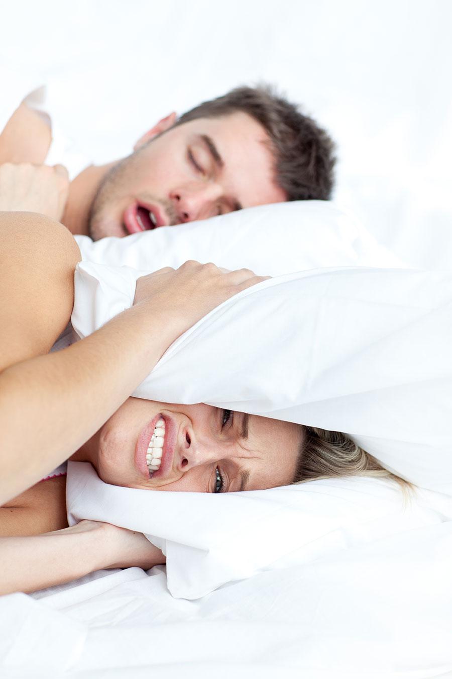 Sleep apnea, snoring and groaning